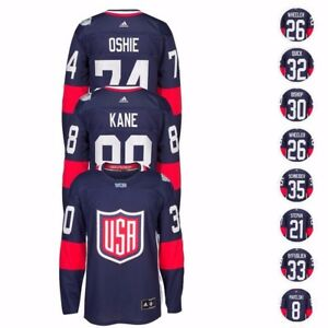 """NHL 2016 Adidas Premier """"World Cup Of Hockey"""" USA Player Jersey Men's Navy"""