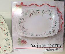 "PFALTZGRAFF WINTERBERRY 12 1/2"" SQUARE PLATTER ORIG. BOX  NEVER USED"