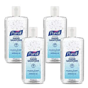 PURELL 9683-04 Advanced Hand Sanitizer, Clean Scent, 1 Liter Flip Cap Bottle