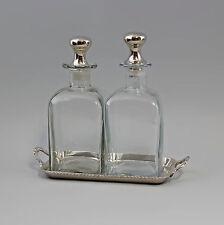 925er Silber Karaffen-Set Glas vernickelt silberfarben Flasche Karaffe 9977387