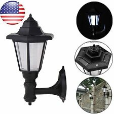Waterproof Solar Power Outdoor LED Wall Light Landscape Mount Garden Fence Lamp