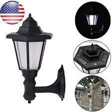 Waterproof Solar Power Outdoor LED Wall Light Landscape Mount Garden Fence Lamp