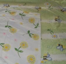 NEW Pottery Barn Kid Green BEE Dandelion Twin DUVET  Reversible Floral