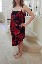Taka Red & Black Floral Latin Ballroom Dance Dress US Size 2-4 Retails for $400