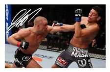 GEORGES ST PIERRE AUTOGRAPHED SIGNED A4 PP POSTER PHOTO