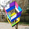 3D Box Single Line Kite with Handle 85cm*30cm Traditional For Beginners Kids