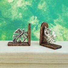 1:12 Scale Leaf Miniature Bookends/Doorstops Dollhouse Bookshelf/Mantle Decor