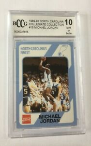 MICHAEL JORDAN ROOKIE CARD 1989 COLLEGE NORTH CAROLINA #18 BCCG 10 Free Shipping
