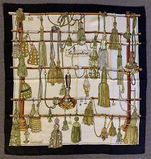 Authentic Foulard PASSEMENTERIE HERMES Paris 100% seta Mint Condition