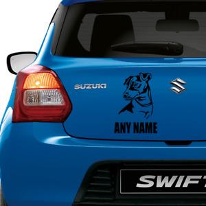 JACK RUSSELL TERRIER DOG PERSONALISED VINYL DECAL Window Door Wall Car Sticker