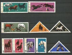 chevaux & poulain Pologne Polska 10 timbres oblitérés /T7289