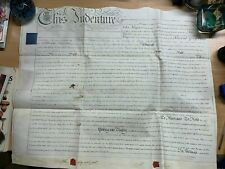 HUGE 11 DEC 1829 1-PAGE LEASE VELLUM INDENTURE - RAYMENT (WORCESTER) (LL)