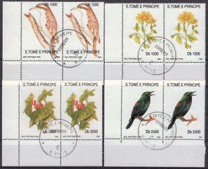 Sao Tome´und Principe,  1991, Flora und Fauna. 2 mal MiNr. 1330-33 gest.