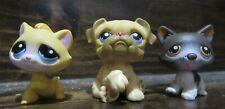 lps lot of three yellow Kitten 1035 Bulldog 1342 Husky 174
