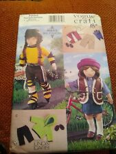 "Vogue 7250 American Girl Doll Clothes Pattern For 18"" Dolls"