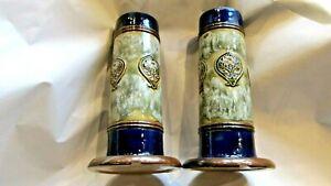 Pair of Royal Doulton Lambeth Spill Vases