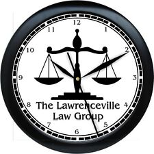 WALL CLOCK SCALES OF JUSTICE 2 LAW OFFICES LAWYER ATTORNEY JUDGE SHERIFF POLICE