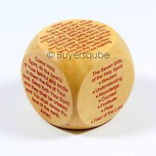 "Confirmation Prayer Cube(6 Prayers) Religious Item 1 5/8"" Holy Sacrament Prayers"