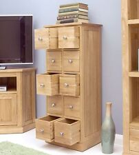 Mobel solid oak home furniture CD DVD storage chest of drawers and felt pads