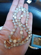 VICTORIAN MOTHER OF PEARL MOP GRADUATING BEAD NECKLACE 9 CARAT CLASP (RUF)