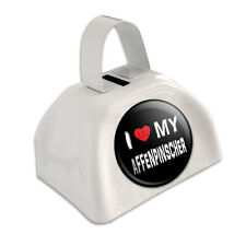 White Cowbell Cow Bell - I Love My Dog A-B