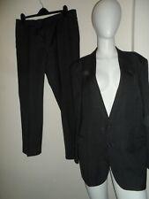 """C&A men`s 2-piece grey pinstripe suit trousers blazer chest size 44"""" waist 36"""""""