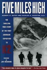2 K2 Books: 5 Miles High & K2 The Savage Mountain Bates & Houston New Paperbacks