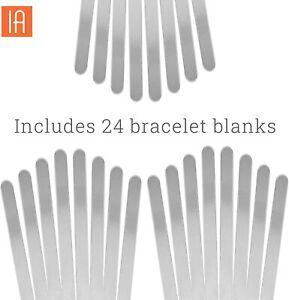 ImpressArt Metal Stamping Jewelry Bracelet Blanks, 24 pack
