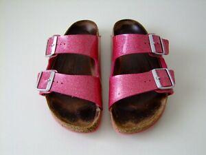 Birkenstock Arizona Gr. 39 Pantolette Sandalen sparkle/candy pink Gern getragen