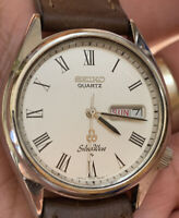 1978 Seiko Silver Wave Quartz 37.5mm Vintage Mens Watch 7546-8010