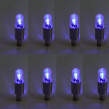 8X Blue LED Tyre Tire Valve Caps Neon Light motorcycle bike Car wheel light