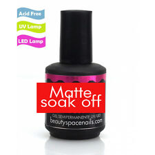 Top Coat Opaco Matte Soak Off Gel uv e Led per Ricostruzione Unghie nails art