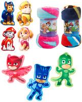 Kids Paw Patrol Cushion Chase , Skye Fleece Throw Blanket, Blaze, Cars Kids Gift
