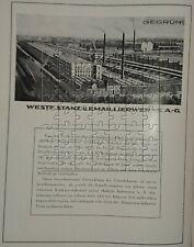 Westf. Stanz- und Emaillier-Werke Ahlen Kerkmann 4 Seiten Werbeanzeige von 1925