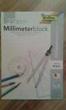 Millimeterpapier 25 Blatt Din A4 80g/m2 rot Folie Zeichenpapier Block Papier