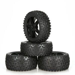 4Pcs Fetal Flower Off-Road Racing Wheel Rim & Tires for HPI HSP 94107/94166 1/10