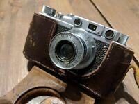 FED 1 Vintage 1957 Soviet Rangefinder Camera with Lens FED 3.5 50mm & Case