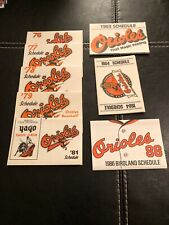 Baltimore Orioles Pocket Schedules Lot 14-76,77,78,79,81,83,84,86,87,90,92,93,95