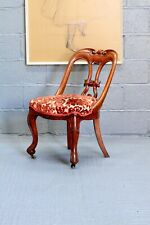 Antique French Directoire/Empire Style Carved Oak Gondola Writing Desk Chair