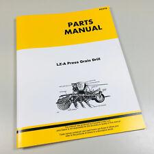 Parts Manual For John Deere Lz A Press Grain Drill Catalog