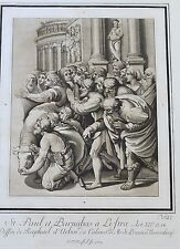 1780 Etching Aquatint after Raphael by Johann Prestel - Large