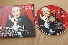 Leonard Cohen Największe przeboje 6TRACKS PROMO CD RARE  POLISH RELEASE