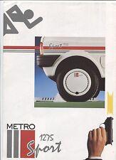 N°7594 / dépliant Austin Rover Metro 1275 Sport nederland text