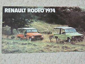 1974 RENAULT RODEO (FRANCE) SALES BROCHURE.....