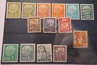 Konvolut Briefmarken - Saarland Deutsche Bundespost - Saar - 14 Marken