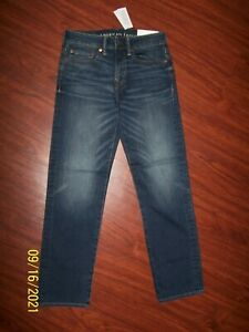 NWT AMERICAN EAGLE BRAND MENS JEANS SZ 26X30 RELAXED STRAIGHT FLEX PERFECT !!