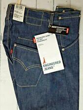 Stunning BNWT Unisex Levi's Engineered Raw Blue Denim Jeans W26 x L30