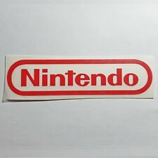 Nintendo Logo Sticker Vinyl Decal - RED & CHROME (Silver) No Video Game Console