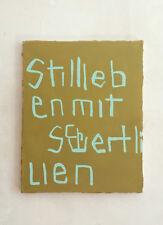 """Abstrakte Malerei Bild van Goghs """"Stillleben mit Schwertlilien"""" Monokrom Typo"""