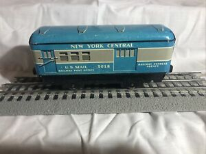 Vintage Tinplate Marx Trains O scale New York Central Railway Post Office #5018